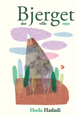 Beautiful cut-out cover picturing a mountain among trees and skies. all in pastel colors and you can see its originally a collage