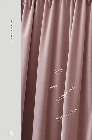 Picture of pink curtain with title written in cursive across the curtain